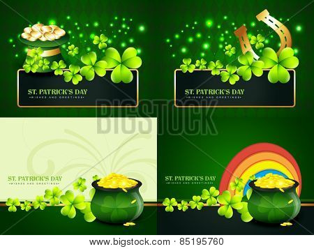 vector creative set of st. patrick's day background illustration