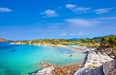 Beautiful Talgo beach on the east coast of Sithonia peninsula, Halkidiki, Greece. poster
