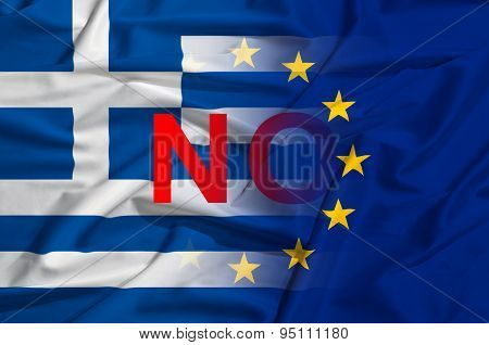 Greek And European Union As Symbol Of Crysis And No Vote