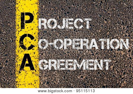 Business Acronym Pca As Project Co-operation Agreement