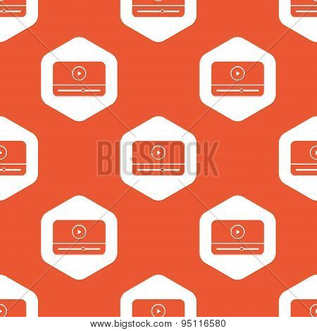 Orange hexagon mediaplayer pattern