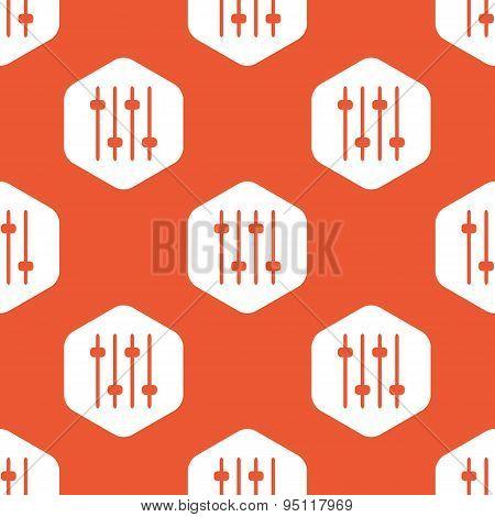 Orange hexagon faders pattern