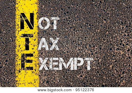 Business Acronym Nte As Not Tax Exempt