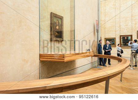 Visitors take photo around The Leonardo DaVinci's