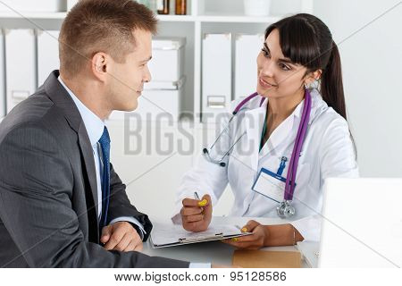 Physician Ready To Examine Patient And Help