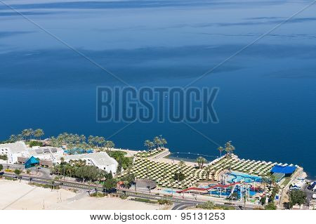 View of the sea of Galilee (Kineret lake) Israel . poster