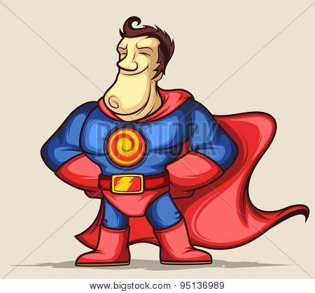 Superhero with hands on waist