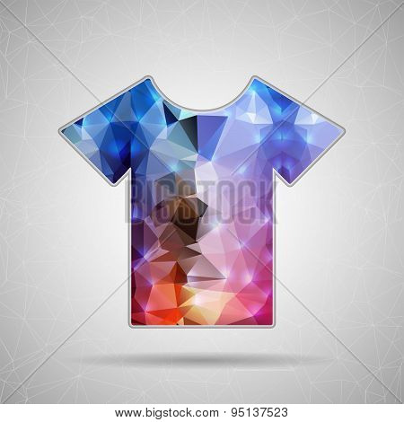 Creative concept vector icon of tee shirt for Web and Mobile Applications isolated on background. Ve