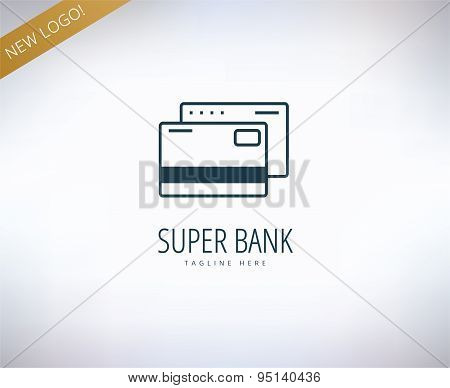 Bank finanse logo. Money, banking or broker and growth. Vector stock illustrations.