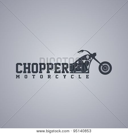 classic chopper motorcycle theme vector art illustration poster