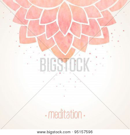 Watercolor Pink Floral Background