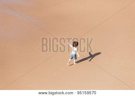 Child Beach Playtime