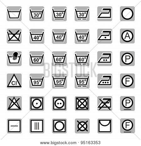 Icons, Washing, Bleaching, Dr...