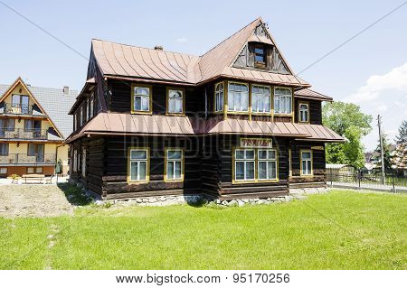 Wooden Villa Called Prymulka In Zakopane