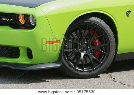 Dodge Challenger Srt Car On Display