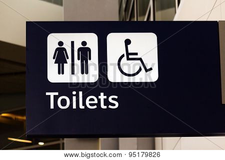 Toilet Sign At Dallas Fort Worth International Airport