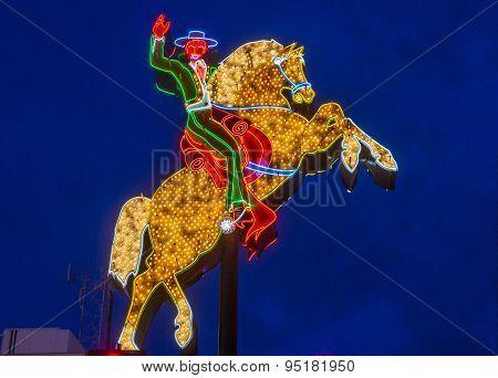 Las Vegas , The Hacienda Horse And Rider Sign
