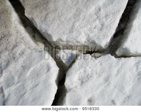Cracks On Glacier