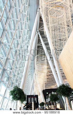 Interior of of Zurich Airport