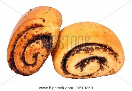 Two Buns With Poppyseed