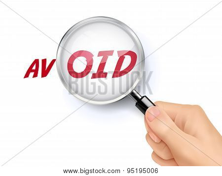 Avoid Word Showing Through Magnifying Glass