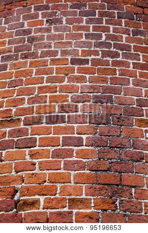 Red Brickwork Background