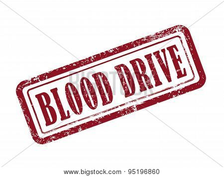 Stamp Blood Drive In Red