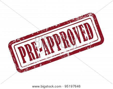 Stamp Pre-approved In Red