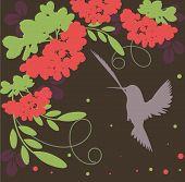 Rowan bunch - abstract autumn vector wallpaper poster