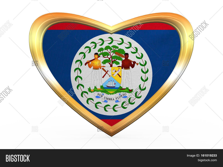 flag belize heart image photo free trial bigstock