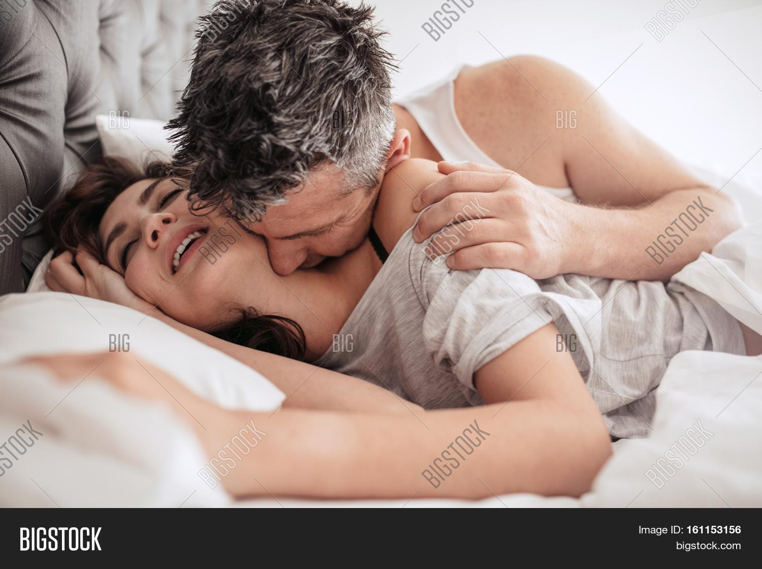Good Morning Kiss Her Image Photo Free Trial Bigstock