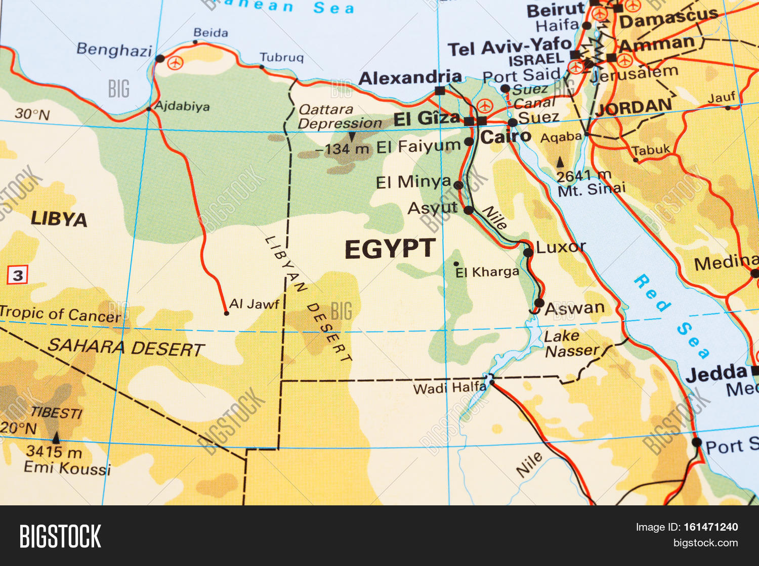 Egypt physical map horizontal close image photo bigstock egypt physical map horizontal close up picture gumiabroncs Choice Image