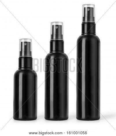 Black Plastic Bottle Spray