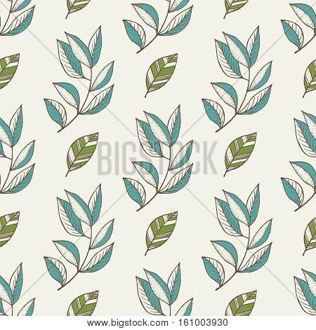 Autumn vector pattern. Hand draw autumn leaves background. Autumn leaves concept. Different autumn leaves. Abstract leaves. Autumn frame. Autumn leaves vector illustration. Autumn leaves fall concept.
