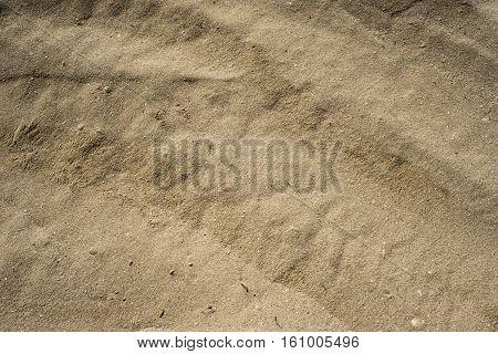 closeup of sand pattern of a beach in salalah Oman 2