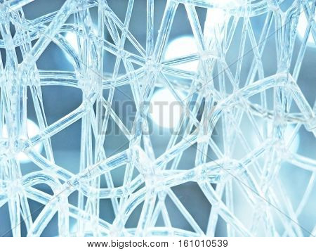 Abstract background, luminous glass filaments, magic background