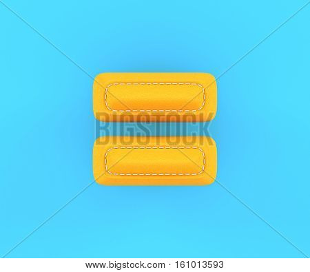 Leather Yellow Texture Letter Digit Equal Sum Sing Mark