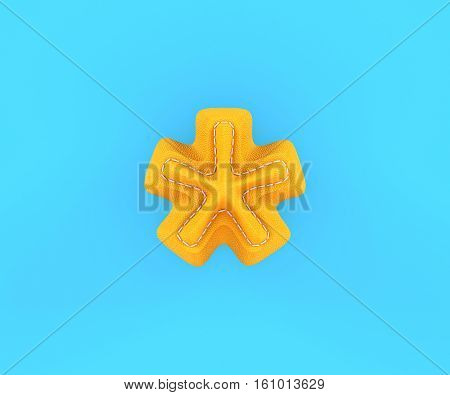 Leather Yellow Texture Letter Digit Multiplication Sum Sing Mark