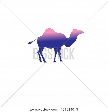 Vector icon of a camel on a white background