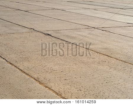 Area of concrete slabs. Cheap slab of concrete for a pedestrian zone. Floor area.