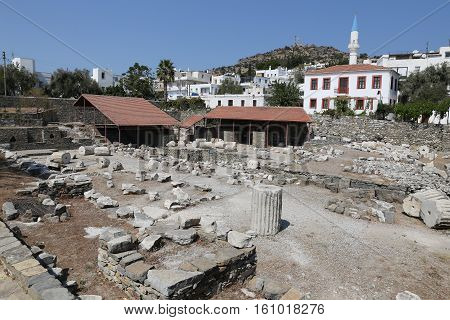 Mausoleum At Halicarnassus In Bodrum, Turkey