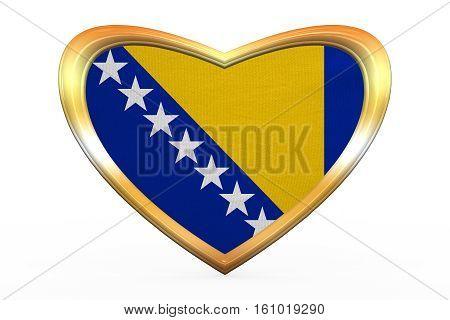 Flag Of Bosnia And Herzegovina, Golden Heart Shape