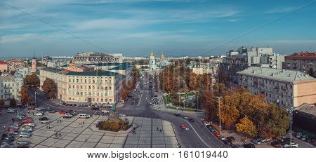 View From Bell Tower Of St Sophia Cathedral On Sophia Square. Kiev, Ukraine.