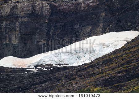 Melting Glaciar In Montana