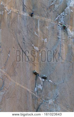 Rock Climbing In Yosemite