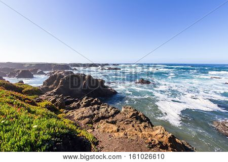 Rocky Beach In California