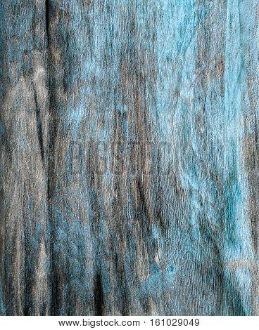 Rustic Hardboard Texture With Blue Peeled Paint.