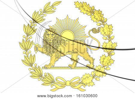 Emblem of Persia. 3D Illustration. Close Up.