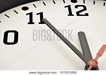 5 to 12 clock concept - it´s time to act