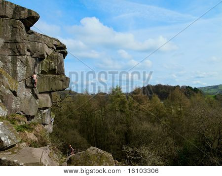 climber in rocky landscape